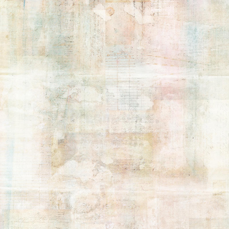 Free Vintage Grungy Antique Collage Watercolor Background With Text Royalty Free Stock Photos - 63194608