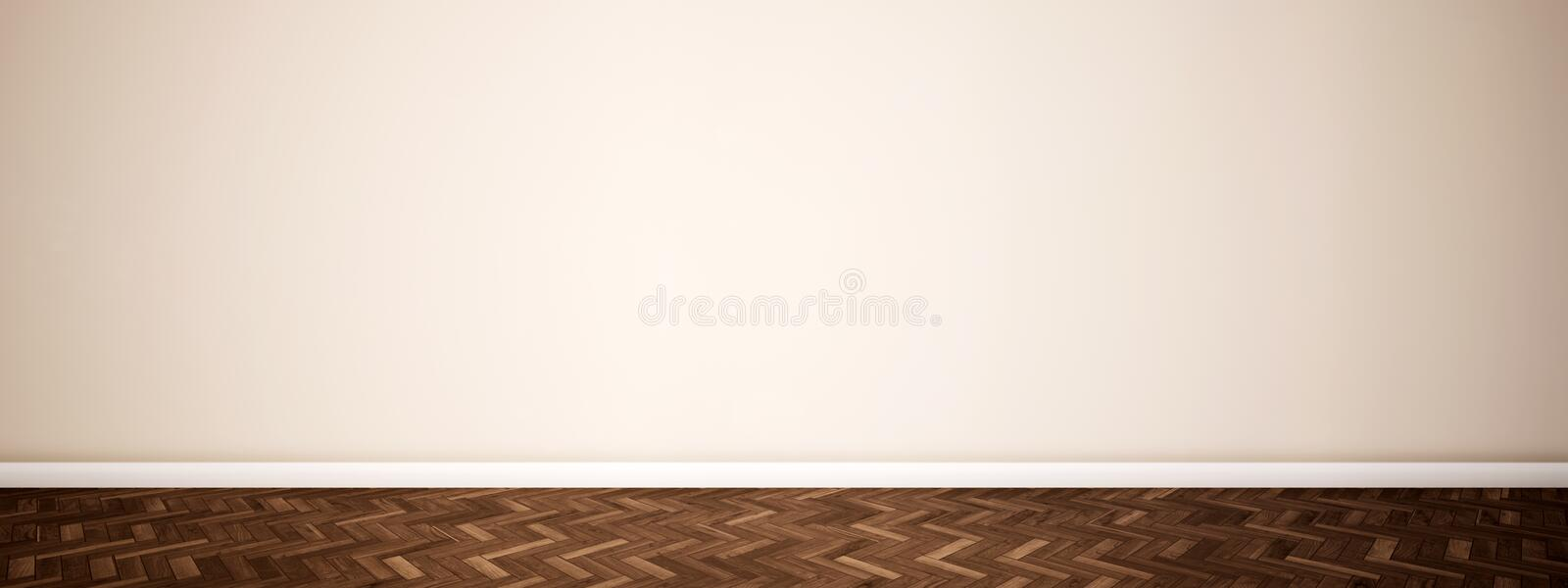 Vintage or grungy brown background of natural wood 库存例证