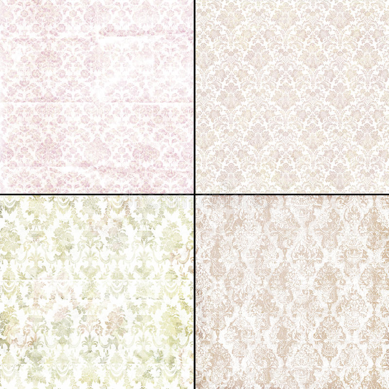 Vintage grungy faded backgrounds royalty free illustration