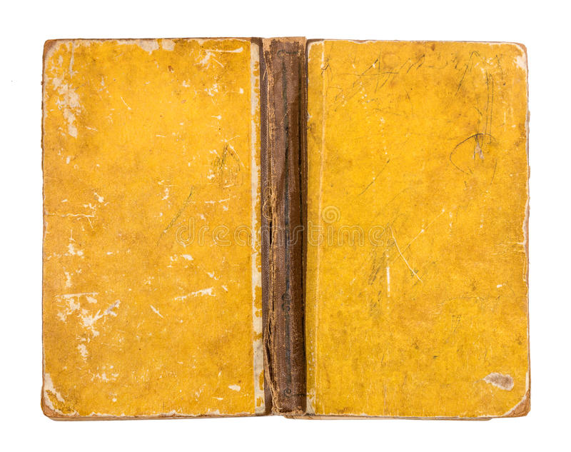 Vintage grungy yellow book cover royalty free stock photo