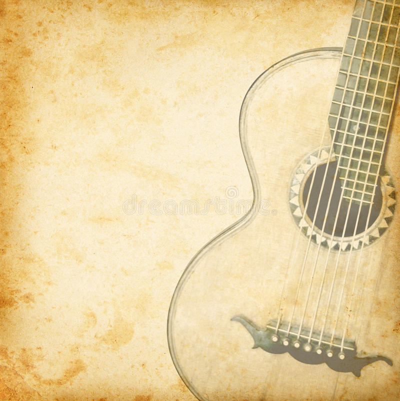Free Vintage Guitar Stock Photography - 41302072