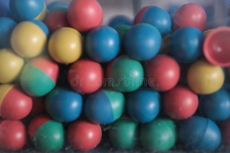 Vintage Gumball, Capsule Toy Thai style for people and travelers playing at retro shop stock photos