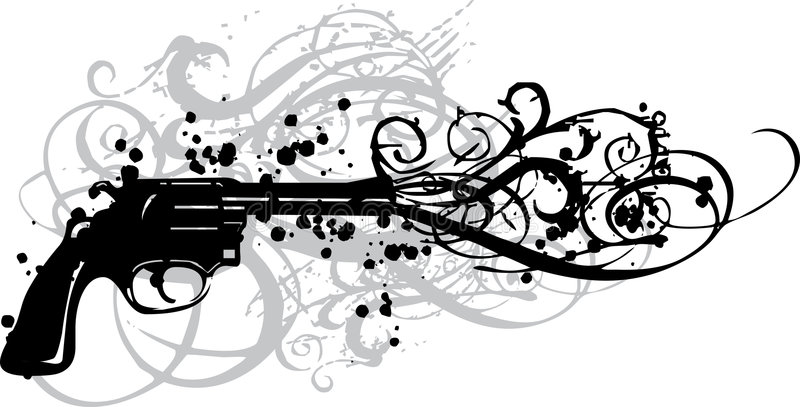Download Vintage Gun With Grungy Swirls Stock Vector - Image: 2700400