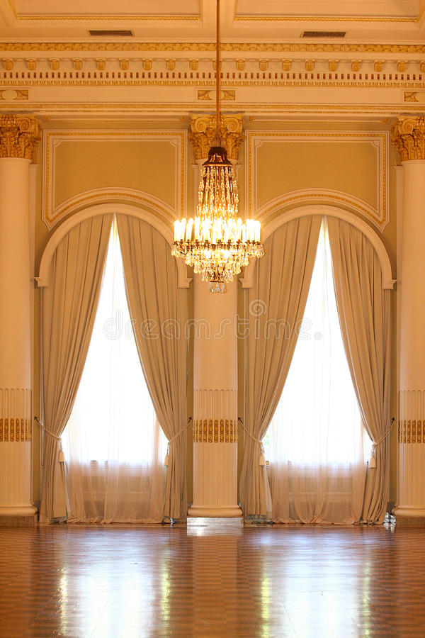 Download Vintage Hall With Curtain In Hotel Stock Photo - Image: 9807662