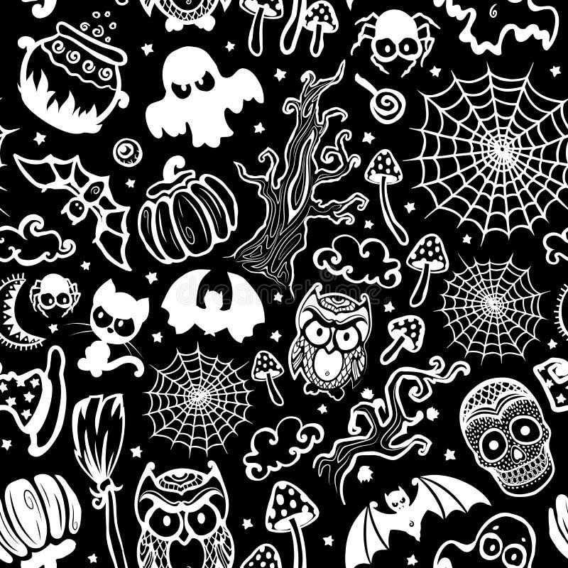 Vintage Halloween de vecteur sans couture illustration libre de droits