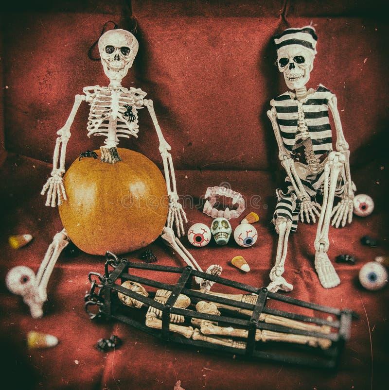 Free Vintage Halloween Scene 1 Royalty Free Stock Image - 45626846