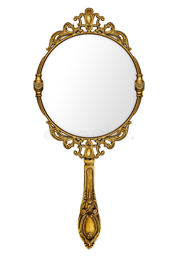Vintage hand mirror stock image. Image of mysterious ... Vintage Hand Mirror Clipart