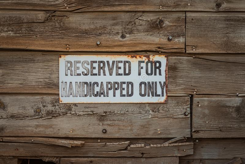 Vintage Handicap Sign royalty free stock photos