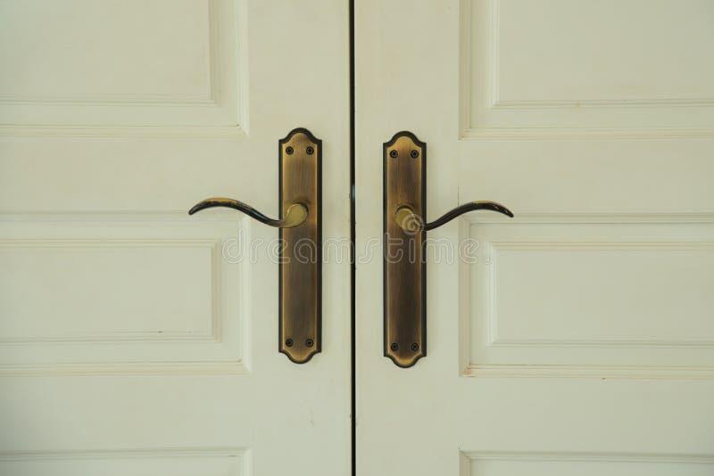 Vintage handle door stock photos