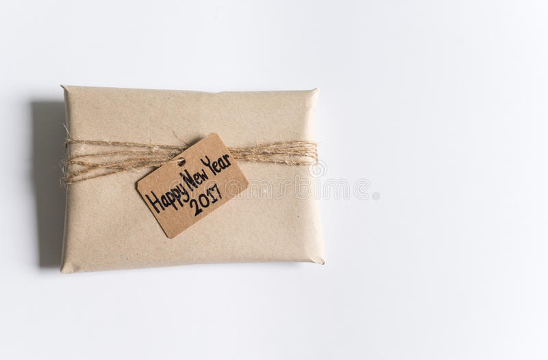 Vintage handmade gift 2017 royalty free stock photo