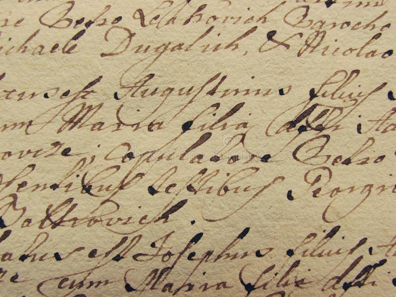Vintage handwriting stock photo