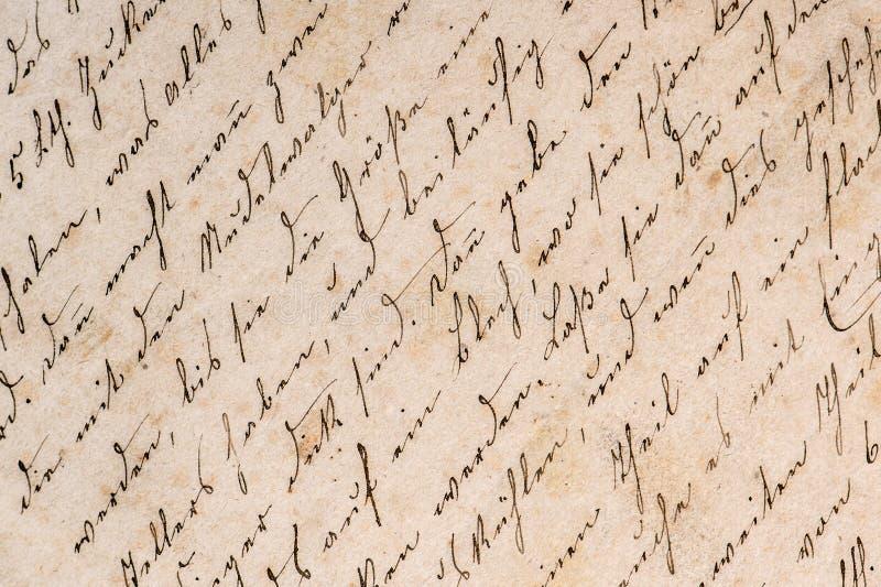 Vintage handwriting. grunge paper background royalty free stock photos