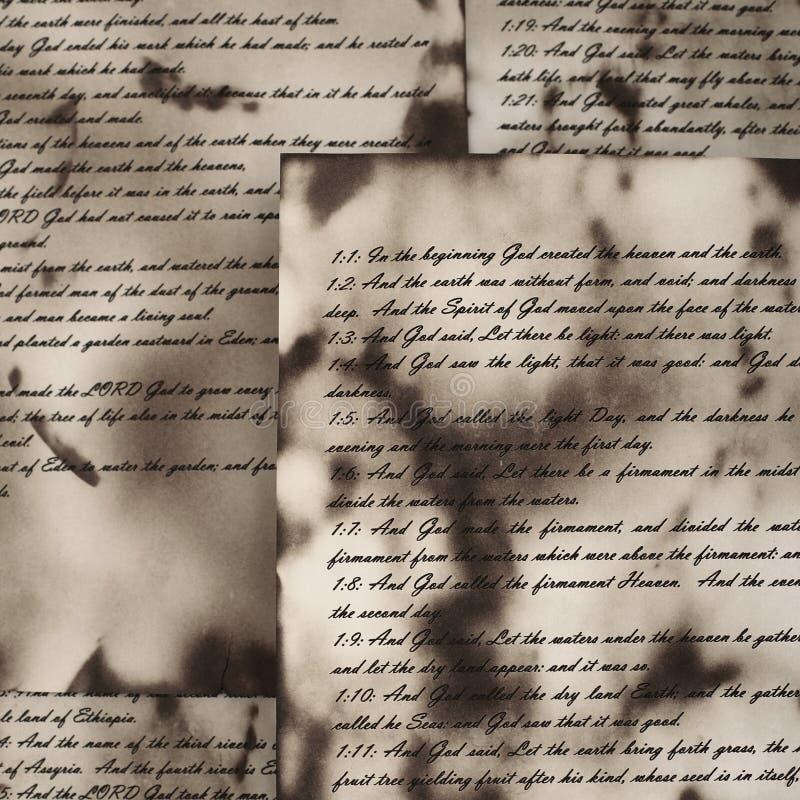 Download Vintage Handwritten Bible Pages Stock Illustration - Image: 15720248
