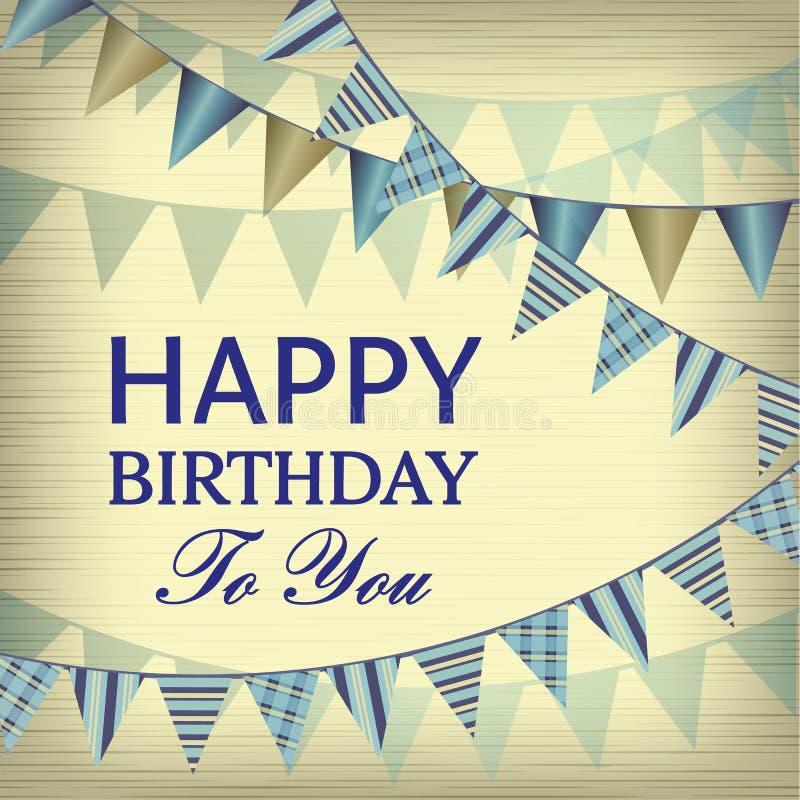 Vintage Happy Birthday Card Vector Image 44007829 – Vintage Happy Birthday Cards