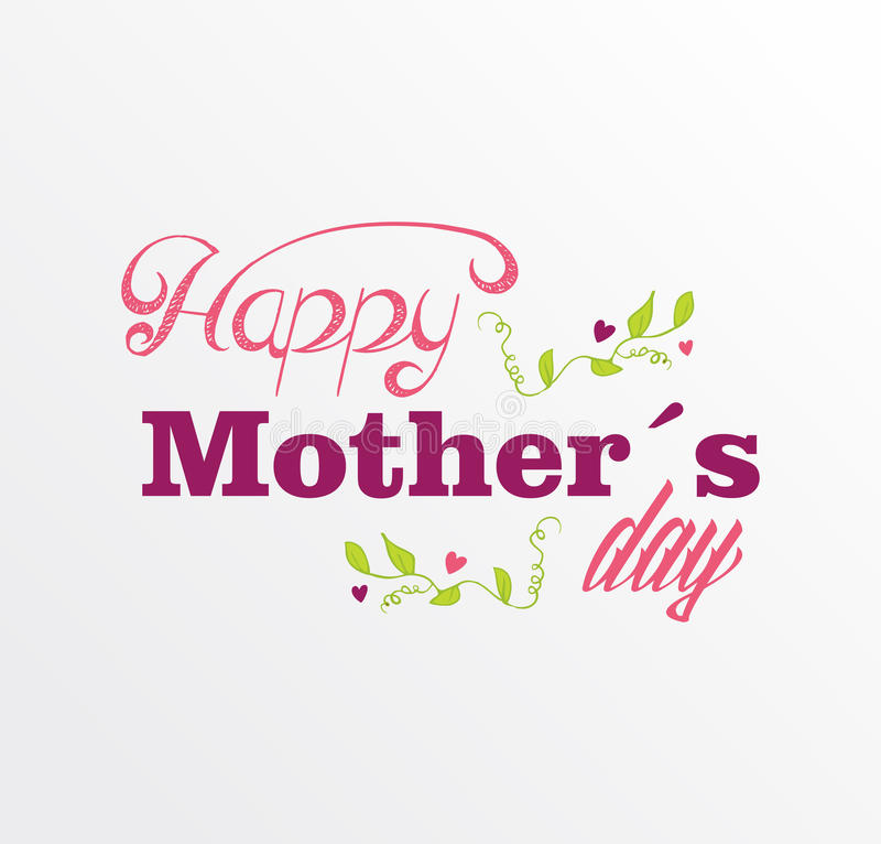 Free Vintage Happy Mothers Day Postcard Royalty Free Stock Photo - 39262875