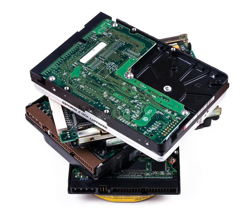 Download Stack hard disk drives stock photo. Image of drive, storage - 33090252