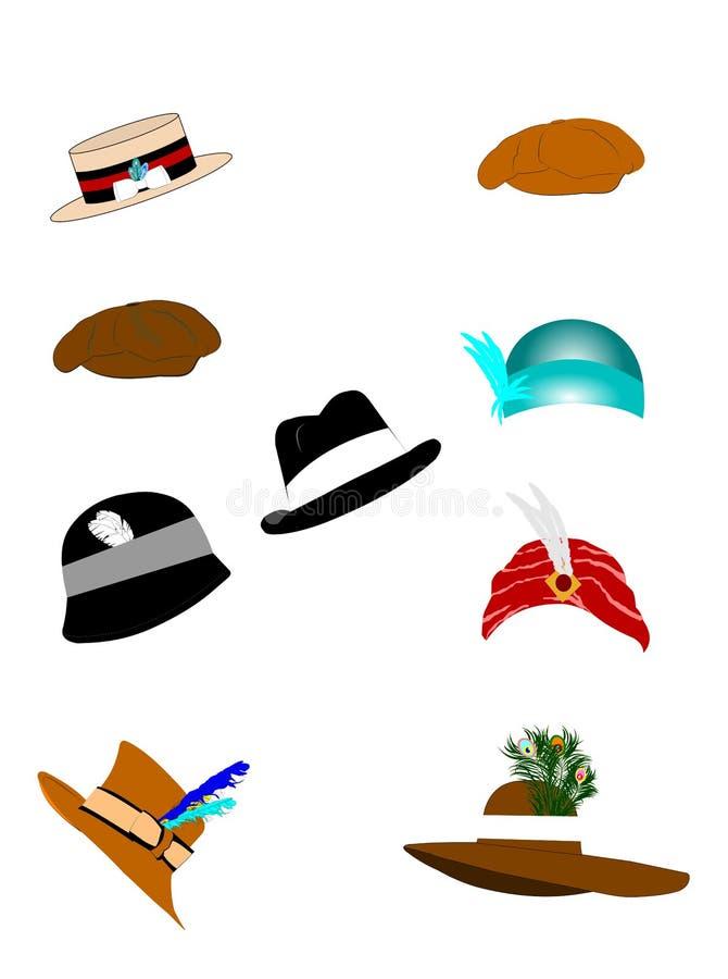 Vintage hats stock illustration