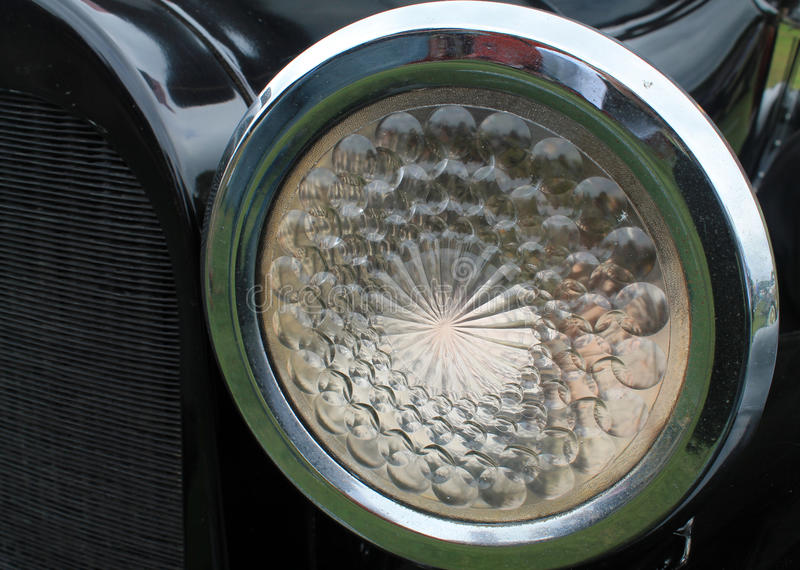 Vintage headlamp. Vintage classic car headlamp 1920s Dodge stock photography