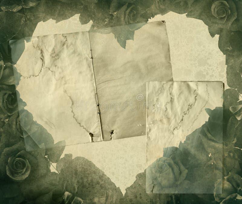 Vintage heart. Background image with floral element vector illustration