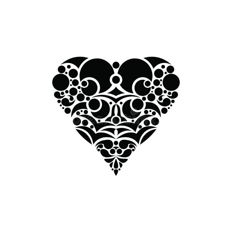 Vintage Heart Design Valentine`s Day. Valentine`s Day background. Vector retro light sign. Heart shape. Love ornament and decorati stock image