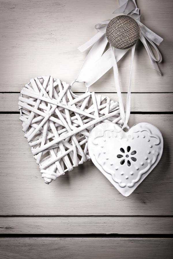 Vintage hearts stock photography