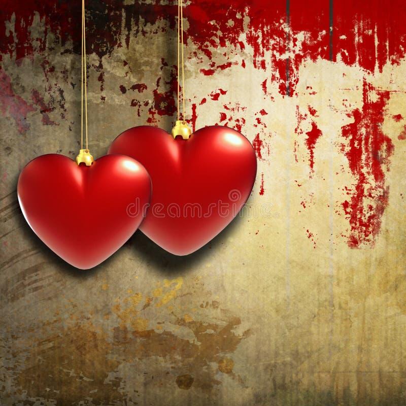 Vintage hearts design stock illustration