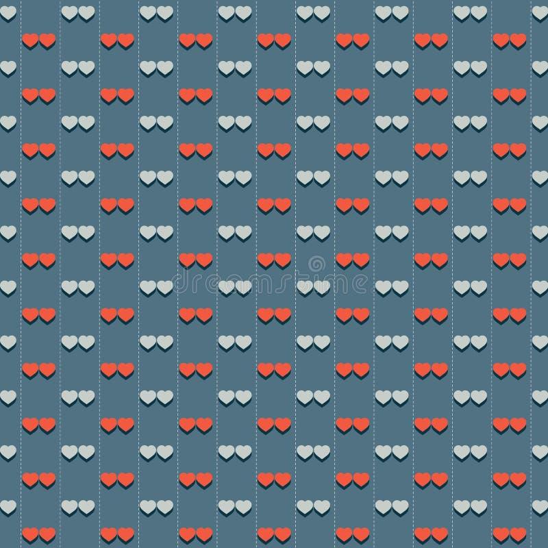 Download Vintage Hearts Pattern stock vector. Illustration of celebration - 39507711