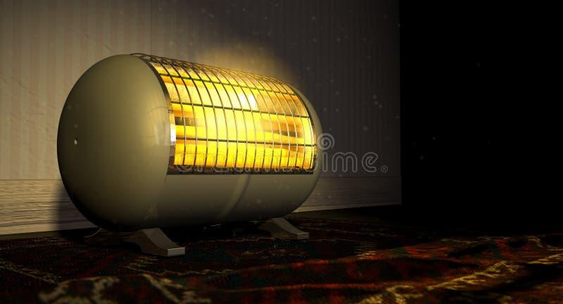 Vintage Heater On Persian Carpet imagem de stock