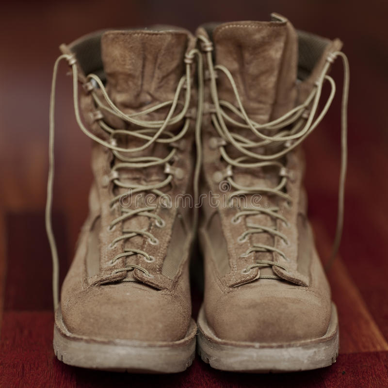 Vintage Hiking boots. Shoes for life stock photos