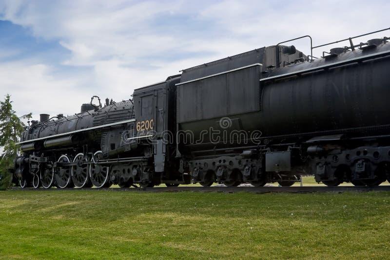 Vintage Historic Steam Train Engine stock photography