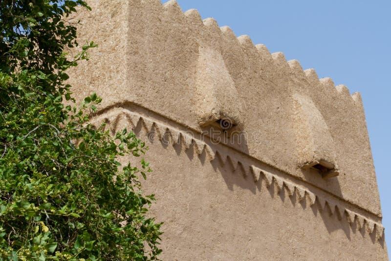Vintage historical arabian building. In heritage arab village in Saudi Arabia stock photos