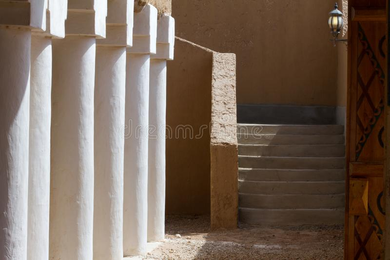 Vintage historical arabian building. In heritage arab village in Saudi Arabia royalty free stock photography