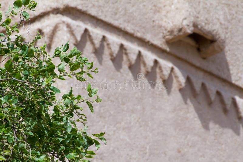 Vintage historical arabian building. In heritage arab village in Saudi Arabia royalty free stock image