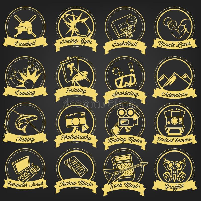 Download Vintage Hobby Label Set stock vector. Illustration of music - 39510650