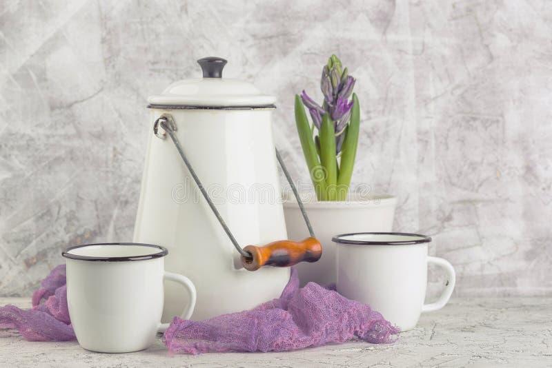 Vintage home arrangement, soft pastel colors. stock images