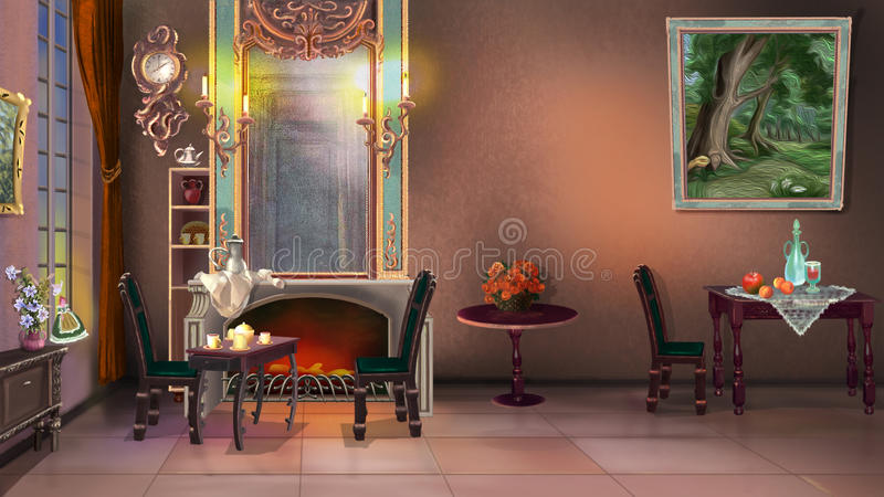 Vintage Home Interior vector illustration