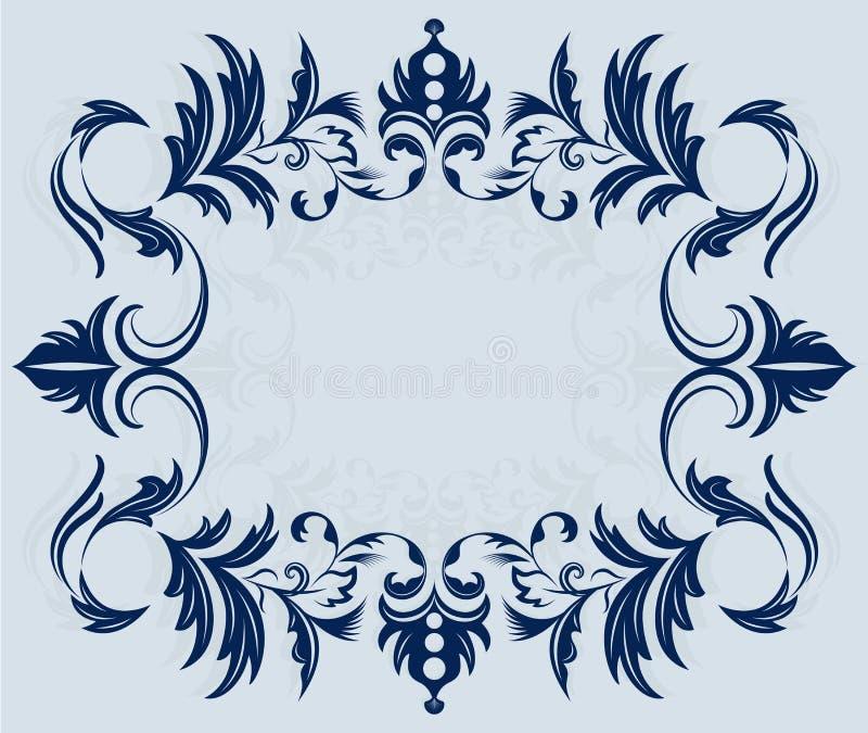 Download Vintage horizontal frame stock vector. Image of blue - 26173079