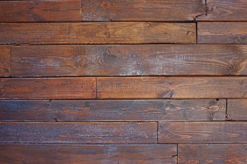 Vintage horizontal wood textured. Background with brown. Wooden planks on a wall or floor with grain and texture stock images