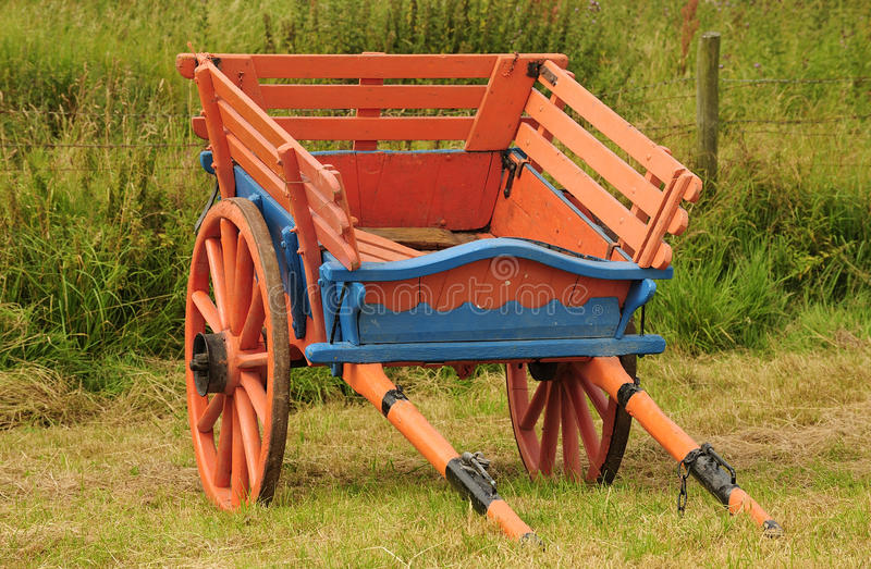 Vintage, horse drawn farm cart stock photos