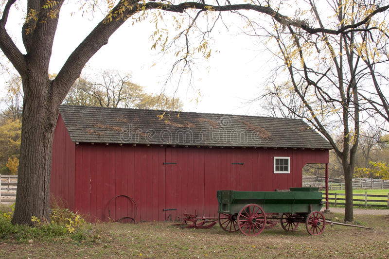 Download Vintage Horsecart In Front Of A Farm Building Stock Image - Image: 17584269