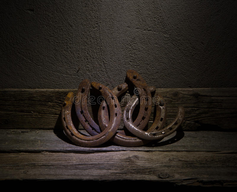Vintage Horseshoes royalty free stock photography