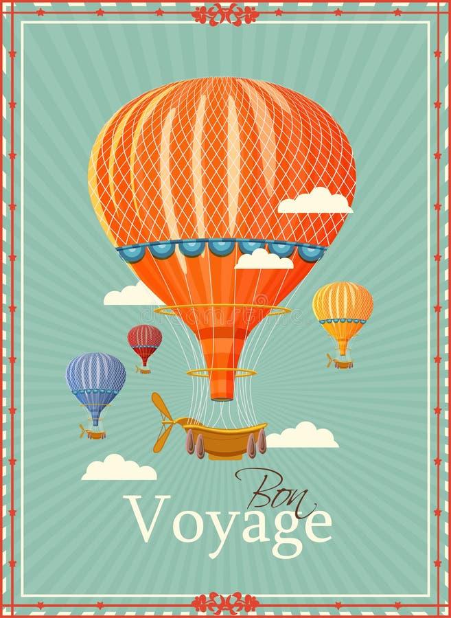 Super Vintage Hot Air Balloon In The Sky Vector Stock Vector Funny Birthday Cards Online Drosicarndamsfinfo