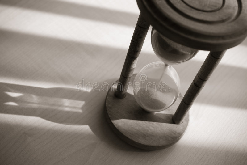 Download Vintage hourglass stock image. Image of object, black - 9182185