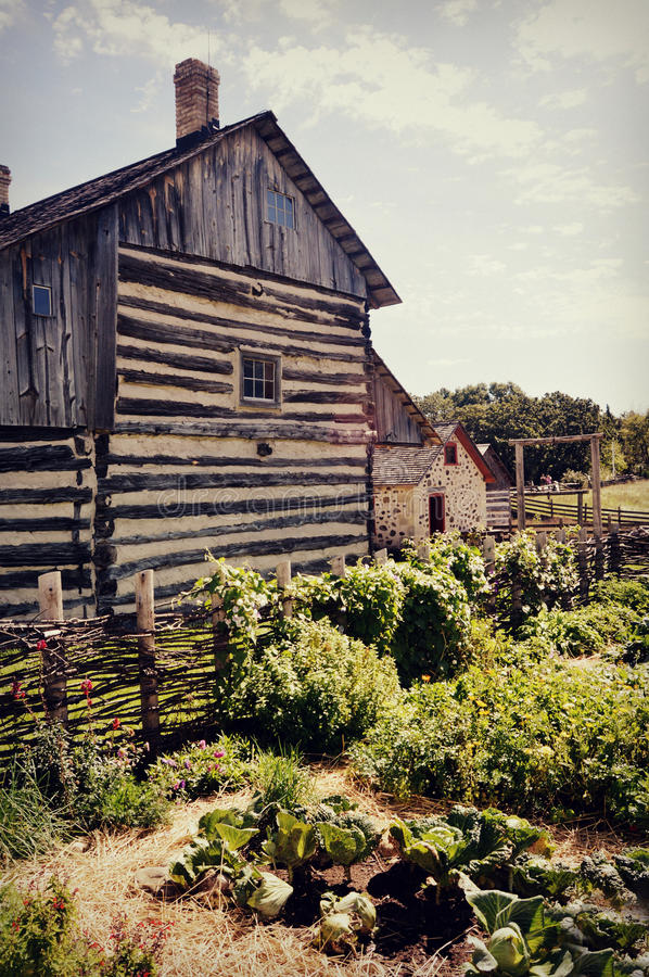Vintage House with Garden stock photography