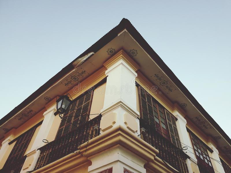 A Vintage House with Maintained Beauty royalty free stock photos