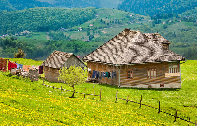 Download Vintage house on mountain stock image. Image of outdoors - 14364343