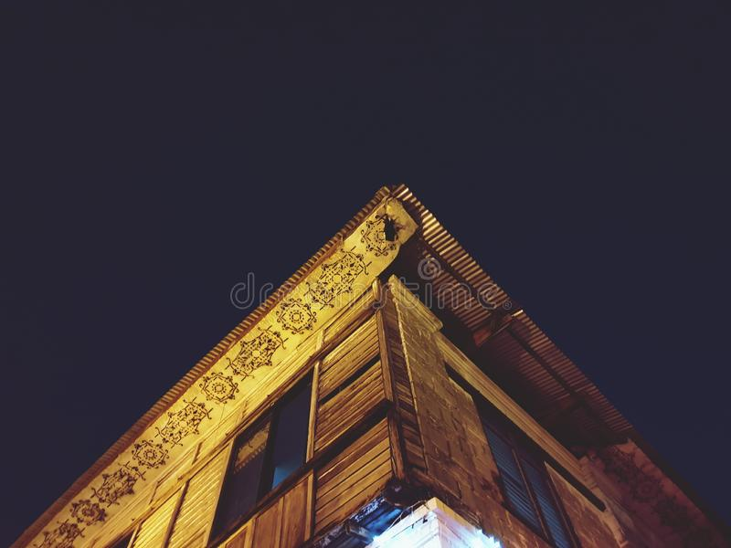 A Vintage House at Night royalty free stock photo