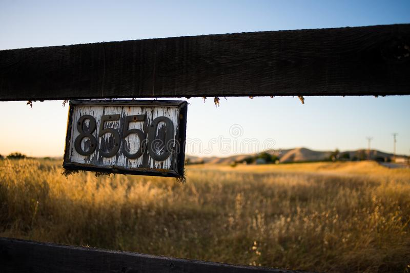 Vintage House Number Sign royalty free stock photo