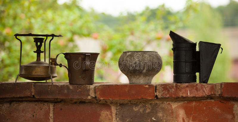 Download Vintage household items stock photo. Image of means, chimney - 43765170