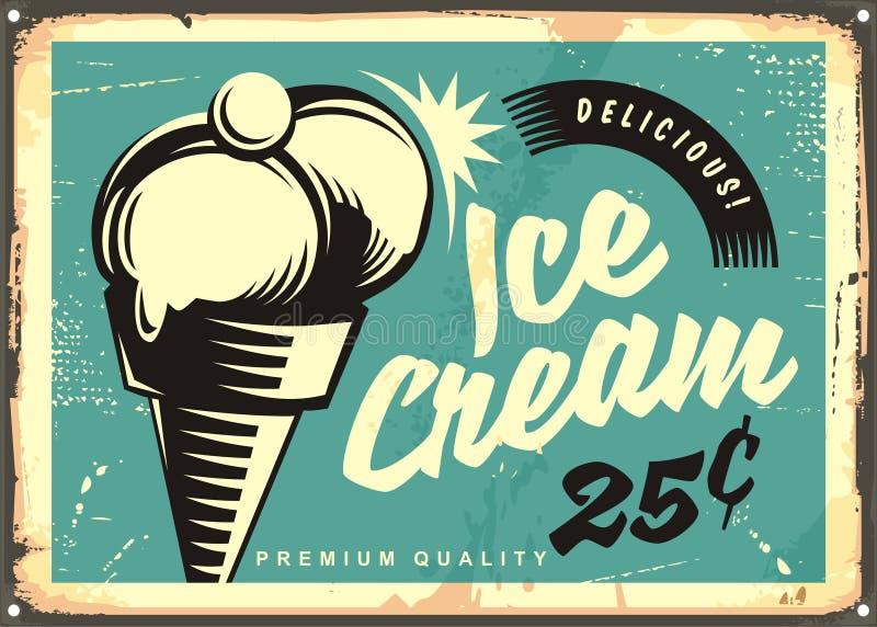 Vintage ice cream vector illustration royalty free illustration